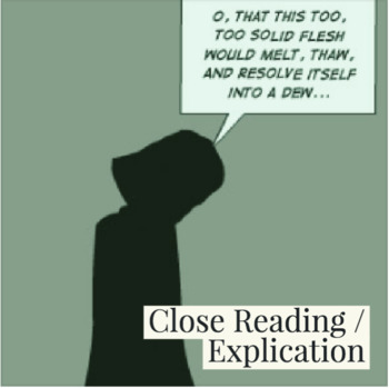 """Hamlet's First Soliloquy """"O This Too Too Solid [Sullied] Flesh"""" Close Reading"""