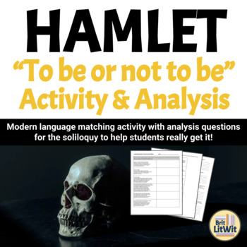 to be or not to be hamlet soliloquy analysis