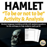 "Hamlet's Soliloquy (""To Be Or Not To Be"") Analysis"