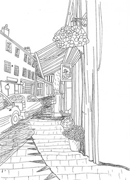 Hamlets, Villages, Towns, Cities: Where We Live: Colouring Sheet