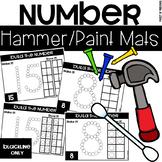 Hammer It/Paint It Number Mats - Fine Motor Fun