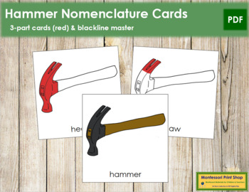 Hammer Nomenclature Cards (Red)