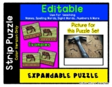 Hammer and Nails - Expandable & Editable Strip Puzzle w/ M