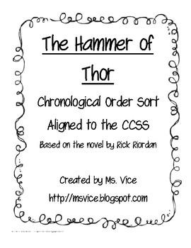 Hammer of Thor chronological order sort