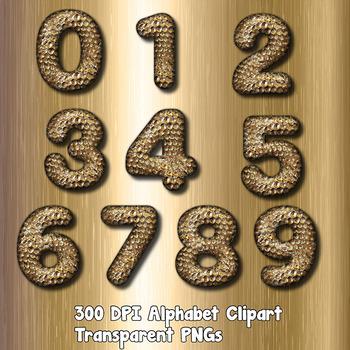 Hammered Gold Alpha Clip Art