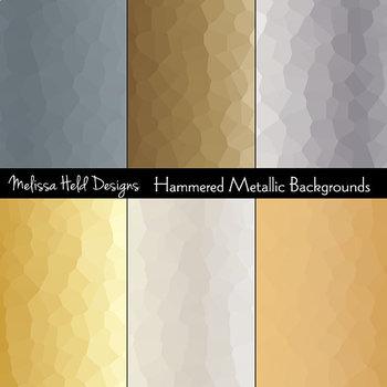 Hammered Metallic Backgrounds