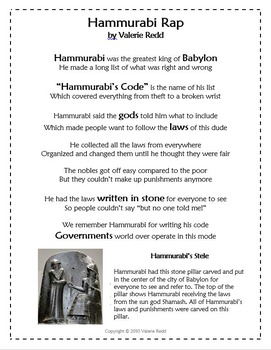 Hammurabi Rap & Video Demo