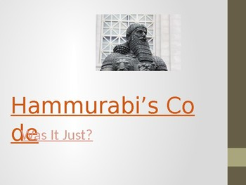 Hammurabi's Code DBQ