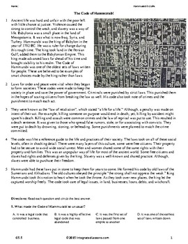 Hammurabi's Code - Grade 5