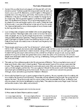 Hammurabi's Code - Grade 7