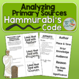 Hammurabi's Code Primary Source Analysis Activity