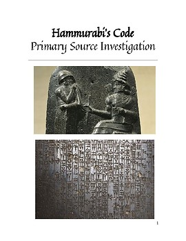 Hammurabi's Code - Primary Source Investigation