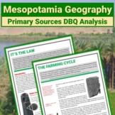 Ancient Mesopotamia Primary Source DBQ: Hammurabi's Code & Farmer's Instructions