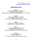 HAMMURABI'S CODE lyrics and worksheets for online music video