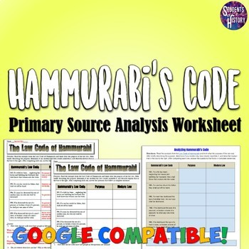 an analysis of the hammurabis code of laws Hammurabi's code of law an example of early government who is hammurabi what is a code of law an eye for an eye the lawsand punishments highlights king hammurabi (1728-1686 bce) was the sixth king in the babylonian dynasty he ruled for 43 years and in the 30th year of his reign.