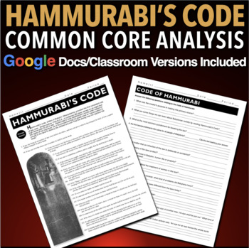 an analysis of hammurabis code What is needed is a broad analysis of the code as a whole from an economic thought point of view  the code of hammurabi contains many of the ingredients of modern .