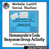 Hammurabi's Code Response Group Activity Ancient Civilizations Written Law