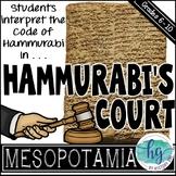 Hammurabi's Court {a fun and engaging activity to interpret Hammurabi's Code}