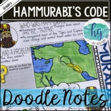 Hammurabi's Code Doodle Notes and Digital Guided Notes
