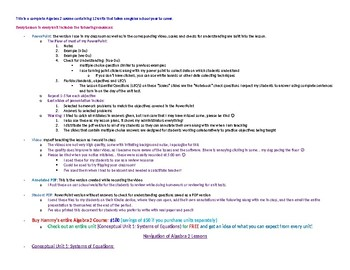 Hammy's Algebra 2 Course Navigation Document