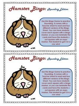 Hamster Rounding Bingo