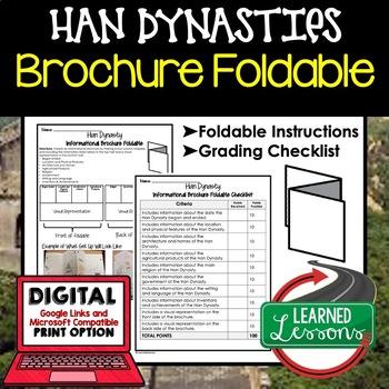 Han Dynasty Activity, Han Dynasty Foldable