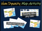 Han Dynasty/Great Wall/Silk Road (CHINA) Map Activity: follow-along 18-slide PPT