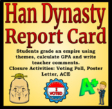 Han Dynasty Report Card Activity - Differentiated Reading