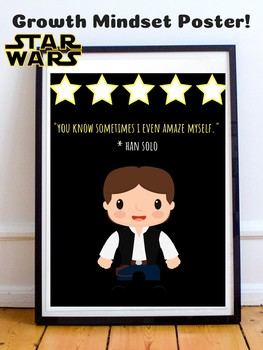Han Solo Star Wars Theme Growth Mindset Poster For Classroom Decor Posters.