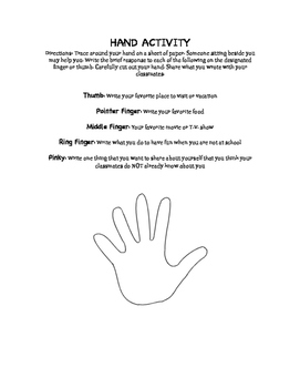 Hand Activity Ice Breakerce Breaker