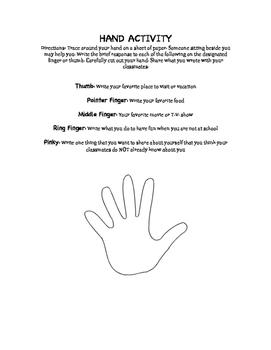 Hand Activity Ice Breakerce Breaker