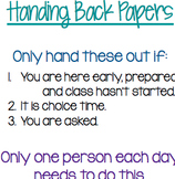Hand Back Papers Protocol