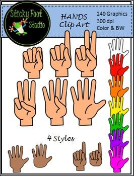 Hand Clip Art - 240 Graphics