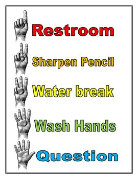 Hand Codes for Classroom Management