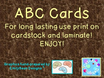 Hand-Crafted ABC Posters and Flash Cards!