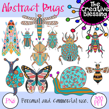 Hand Drawn Abstract Insect PNG Clip Art Doodles