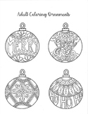 Hand Drawn Adult Coloring Christmas Ornaments