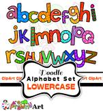 Hand Drawn Alphabet Font Clip Art
