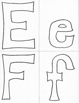 Hand Drawn Alphabet Stencils