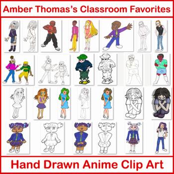 Hand Drawn Anime Clip Art