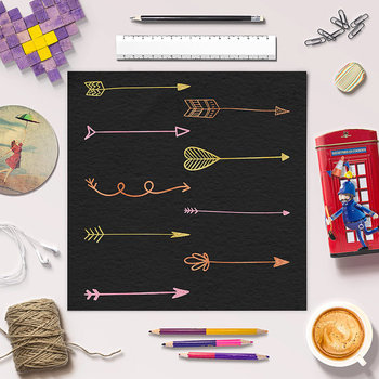 Hand Drawn Arrow Clip Art, Set of 27 Doodle Arrows