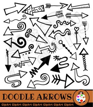 Hand Drawn Arrow Doodle Clip Art