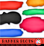 Hand Drawn Artistic Chalk Banner & Label Clip Art