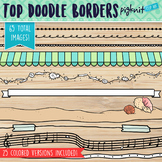 Hand Drawn Border Clipart for Page Toppers in Cartoon Style