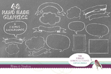 Hand Drawn Bubbles, Ribbons & Frames Clip Art Super Bundle