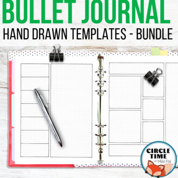 Bullet Journal Bundle! Hand Drawn on Graph Paper for Your Bujo