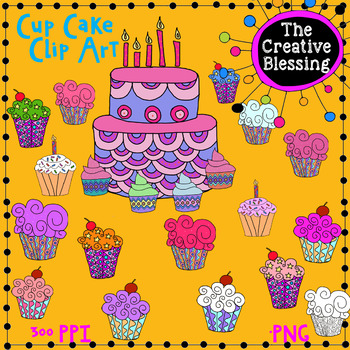 Hand Drawn Cake/ Cup Cake Clip Art