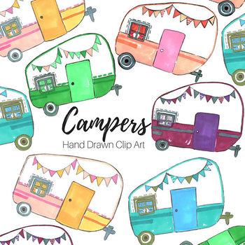 Hand Drawn Camper Clip art