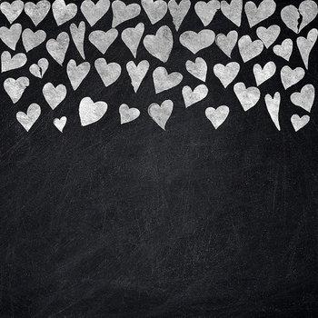 Hand Drawn Chalk Borders, Chalkboard Hearts Frame