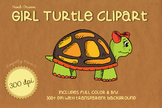 Hand Drawn Character Clip Art - TASHA TURTLE